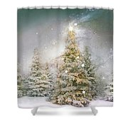 Forest Of Trees In Wintergreens Shower Curtain