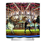 Forest Park Carousel Shower Curtain