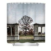 Forest Park Columns Shower Curtain