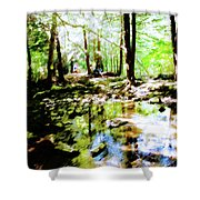 Forest People Shower Curtain