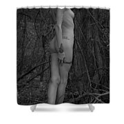 Forest Nude Shower Curtain