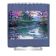 Forest River Scene. L A Shower Curtain
