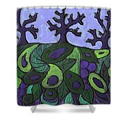 Forest Royal Shower Curtain