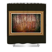 Forest Scene. L A With Decorative Ornate Printed Frame. Shower Curtain