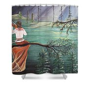 Forest Serenade Shower Curtain