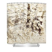 Forest Snow Shower Curtain