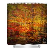 Colorful Forest, Smoky Mountains, Tennessee Shower Curtain