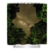 Forest Star Patch Shower Curtain