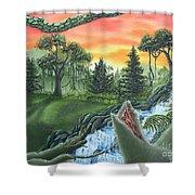 Forest Sunset Cascade Shower Curtain