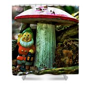 Forest Toy Shower Curtain