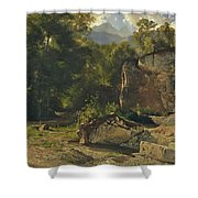 Forest Track. 1855 Shower Curtain
