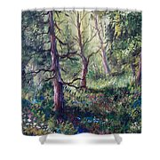 Forest Wildflowers Shower Curtain