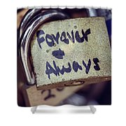 Forever And Always Paris Love Lock Shower Curtain