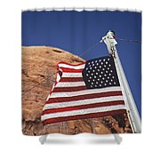 Forever May She Wave Shower Curtain
