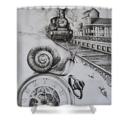 Forever On Time Shower Curtain