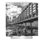 Forever Wild Trail Black And White Shower Curtain