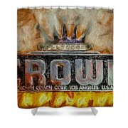 Forged In Fire - Crown - Oil Shower Curtain