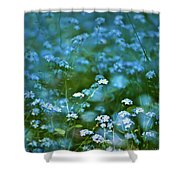 Forget-me-not Flower Patch Shower Curtain