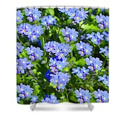 Forget Me Not Macro Shower Curtain