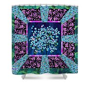 Forget Me Nots Fabric By Clothworks Shower Curtain