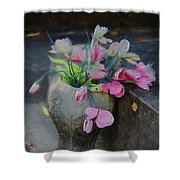 Forgotten Again - Painted Shower Curtain
