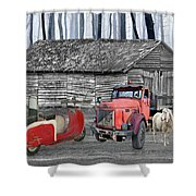 Forgotten Old Timers Shower Curtain