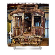 Forgotten Passenger Car Shower Curtain