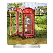 Forgotten Phone Booth Shower Curtain