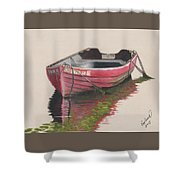 Forgotten Red Boat II Shower Curtain
