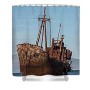 Forgotten Ship Wreck Shower Curtain