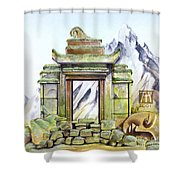 Forgotten Shrine Shower Curtain