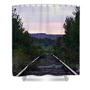 Forgotten Train Track Shower Curtain