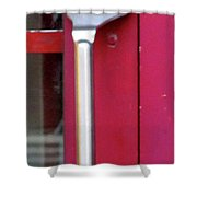 Fork Door Handle Shower Curtain