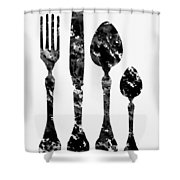 Fork Knife And Spoon Shower Curtain
