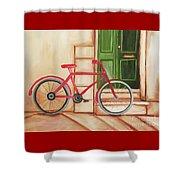 Forlorn Bike Shower Curtain