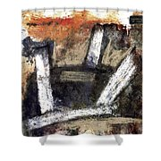 Formation. Abstract World Shower Curtain
