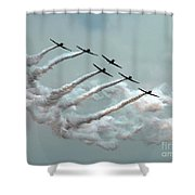 Formation Fly By Shower Curtain