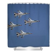 Formation Flying Shower Curtain