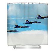 Formation Of Blue Angels Shower Curtain