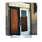 Former Waiting Room Doors Shower Curtain