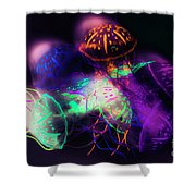 Forms And Merger Shower Curtain