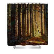 Forrest Sun Shower Curtain