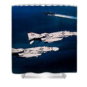Forrestal S Phantoms Shower Curtain by Marc Stewart