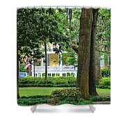 Forsyth Park Inn In Savannah  3205 Shower Curtain