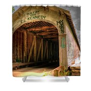 Forsythe Mill Bridge Shower Curtain