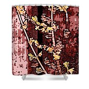 Forsythia Branch Shower Curtain