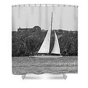 Fort Amsterdam Sailboat Shower Curtain