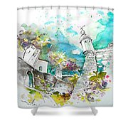 Fort And Houses In Valenca Shower Curtain