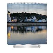 Fort Baldwin Winter Evening Shower Curtain