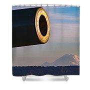 Fort Casey- Mount Rainer Shower Curtain